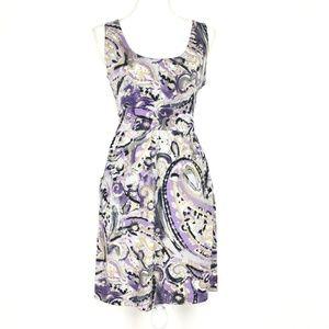 MICHAEL KORS Painted Swirl Paisley Empire Dress